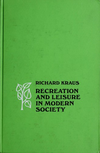 Download Recreation and leisure in modern society