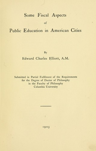 Download Some fiscal aspects of public education in American cities.