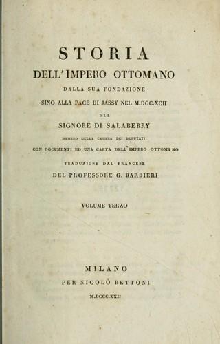 Storia dell'impero ottomano dalla sua fondazione sino alla pace di Jassy nel 1792