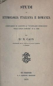 Studi di etimologia Italiana e Romanza PDF