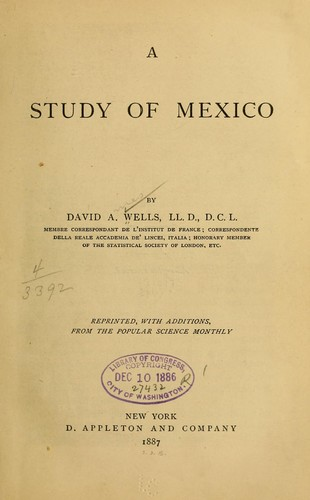 Download A study of Mexico