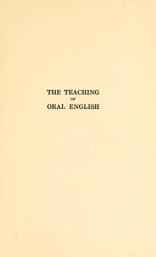 Download The teaching of oral English