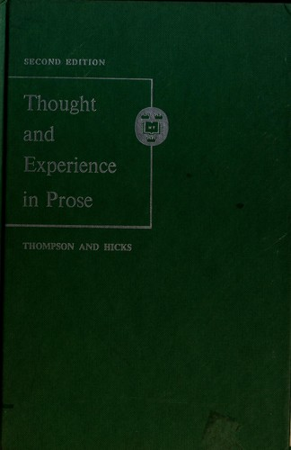 Download Thought and experience in prose