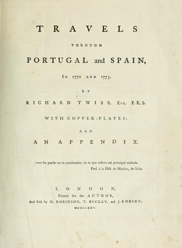 Download Travels through Portugal and Spain, in 1772-1773