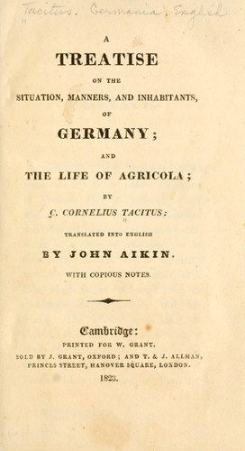 Download A treatise on the situation, manners, and inhabitants of Germany