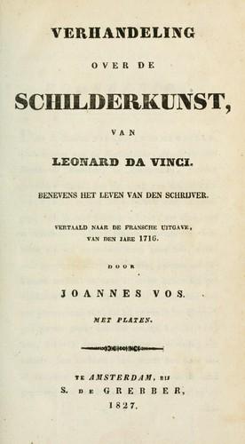Verhandeling over de schilderkunst van Leonard da Vinci