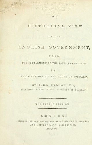 Download An historical view of the English government