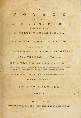 Download A voyage to the Cape of Good Hope