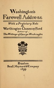Cover of: Washington's farewell address by George Washington