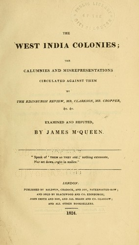 Download The West India colonies