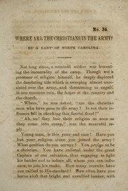 Where are the Christians in the army? PDF