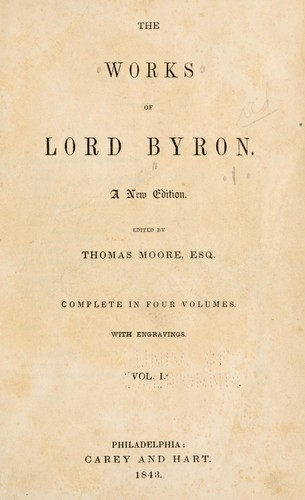 The works of Lord Byron.