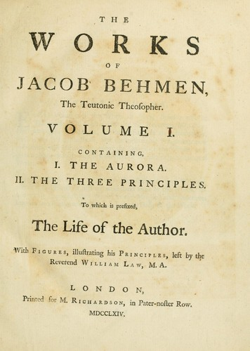 Download The works of Jacob Behmen, the Teutonic theosopher …