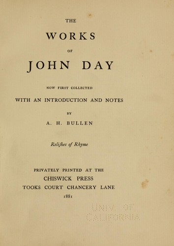 The works of John Day