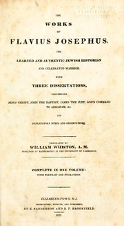 Cover of: The works of Flavius Josephus by Flavius Josephus