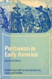 Puritanism in early America by George Macgregor Waller