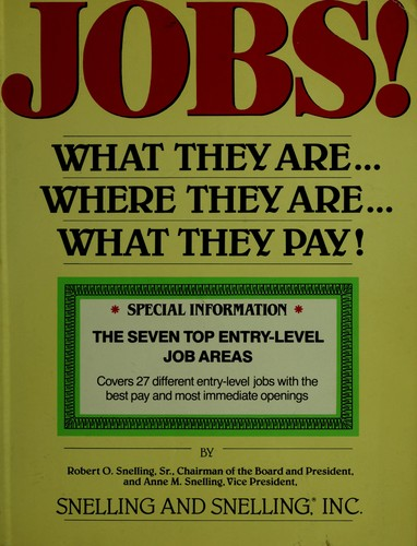 Jobs! what they are– where they are– what they pay