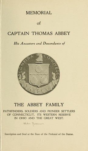 Memorial of Captain Thomas Abbey