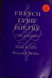 French lyric poetry PDF