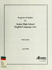 Program of studies for senior high school English language arts PDF