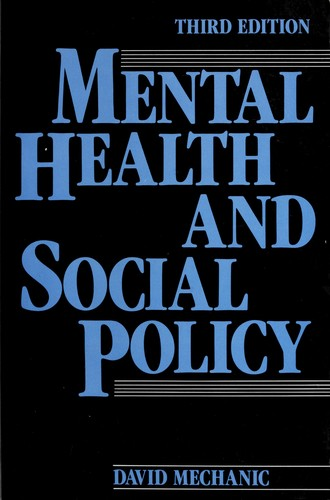 Download Mental health and social policy