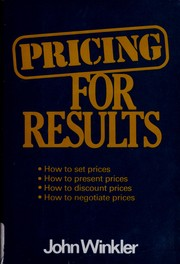 Pricing for results by John Winkler