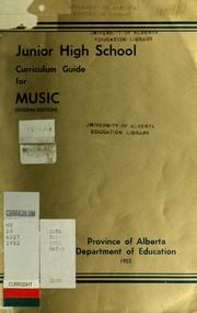 Junior high school curriculum guide for music PDF