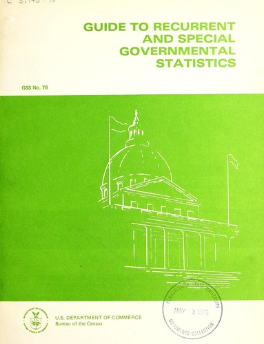Guide to recurrent and special governmental statistics.