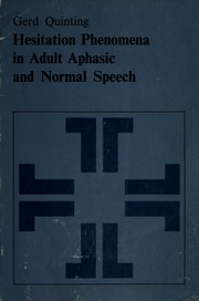 Hesitation phenomena in adult aphasic and normal speech PDF