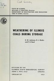 Weathering of Illinois coals during storage PDF