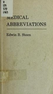 Medical abbreviations PDF