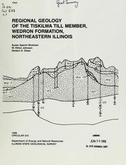 Cover of: Regional geology of the Tiskilwa Till Member, Wedron Formation, northeastern Illinois by Susan Specht Wickham