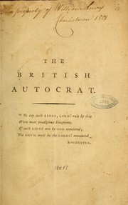 Cover of: The British autocrat by