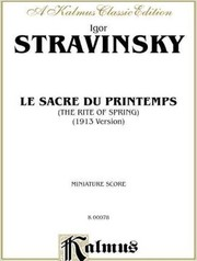 The rite of spring by Igor Stravinsky
