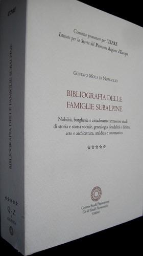Bibliografia delle famiglie subalpine