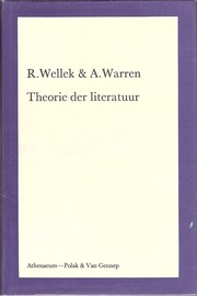 Cover of: Theorie der literatuur by René Wellek, Austin Warren