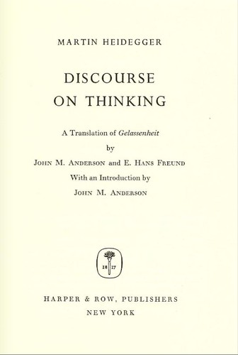 Download Discourse on thinking.