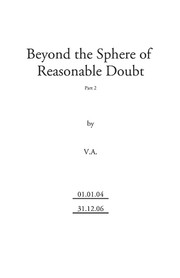Beyond the Sphere of Reasonable Doubt (part 2) by V.A., Virtual Alien, Nick Peterson