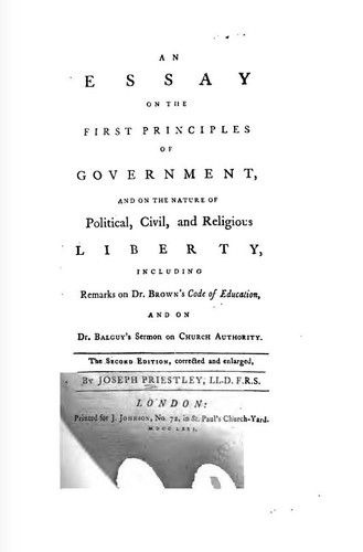 An essay on the first principles of government