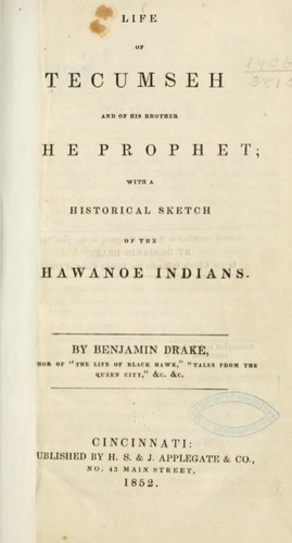 Download Life of Tecumseh and of his brother the prophet