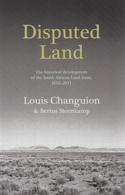 Cover of: Disputed Land by