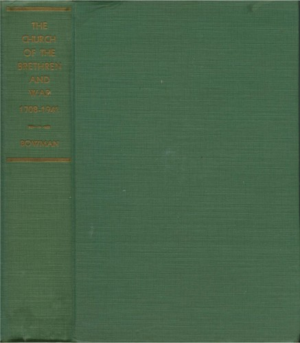 Download The Church of the Brethren and war, 1708-1941