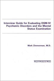 Interview Guide for Evaluating Dsm-IV Psychiatric Disorders and the Mental Status Examination PDF