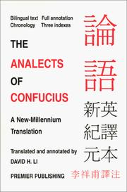Cover of: The analects of Confucius by Confucius