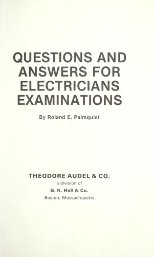 Questions and answers for electricians examinations