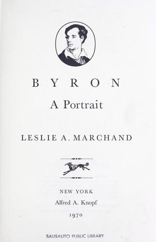 Download Byron: a portrait