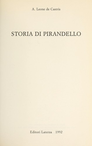 Download Storia di Pirandello