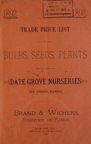 Wholesale list of ferns, flowers, bulbs, &c PDF
