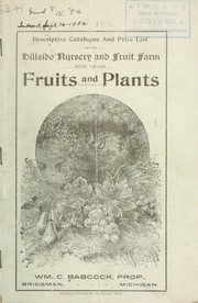 Descriptive catalogue and price list of the Hillside Nursery and Fruit Farm PDF