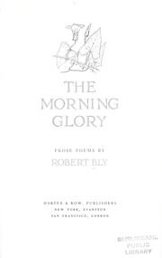 The morning glory : prose poems PDF